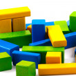 Wooden building blocks - Foto de Stock