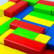 Wooden building blocks — Foto de Stock