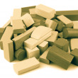 Wooden building blocks — Foto Stock