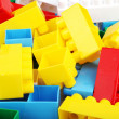 Plastic toy blocks — Foto de Stock