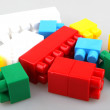 Stock Photo: Plastic toy blocks