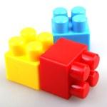 Plastic toy blocks — Stock Photo
