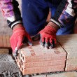 Construction mason worker bricklayer — Stock Photo #16784603