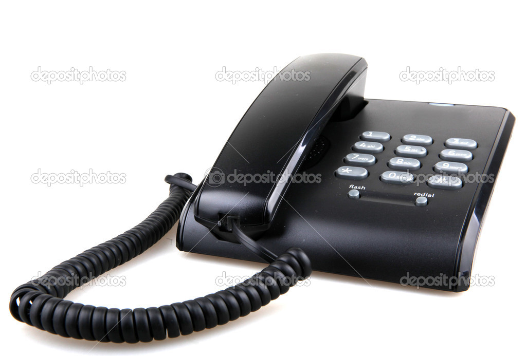 Telephone isolated on white. — Stock Photo #16979987