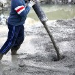 Concrete pouring - Foto Stock