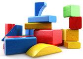 Wooden building blocks — ストック写真