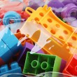 Plastic building blocks — Stock Photo