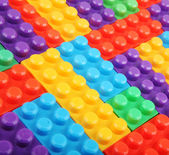 Plastic building blocks — Stockfoto