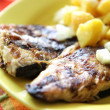 Fish with potatoes — Stock Photo