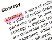 Strategy — Stock Photo