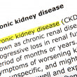 Chronic kidney disease, book — Stock Photo