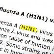 H1n1 - color image — Stock Photo