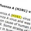 H1n1 - color image — Stock Photo #23673859