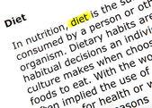 Diet - color image — Stock Photo