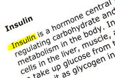 Insulin — Stock Photo