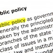 Stock Photo: Public policy