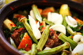 A mutton stew with mixed vegetables — 图库照片
