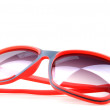 Red sunglasses isolated on white — Stock Photo