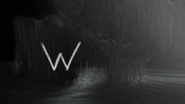 Web Handwritten With White Chalk On A Blackboard — Video Stock
