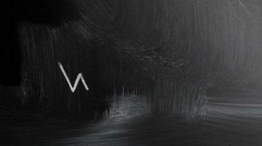 Bir kara tahta üzerinde beyaz tebeşir ile el yazısıyla www — Stok video