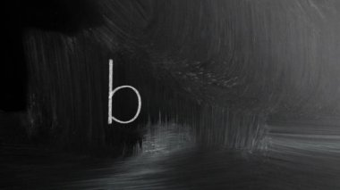 Blog Handwritten With White Chalk On A Blackboard — 图库视频影像