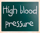 High blood pressure — Stock Photo