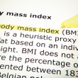 Body mass index — Foto de stock #35057369