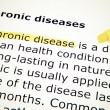 Chronic diseases — Stock Photo