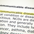 Non-communicable disease — Stock Photo