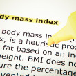 Body Mass Index — Foto de stock #35060327