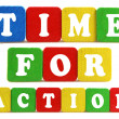 Stock Photo: Time for action concept