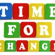 Time for change concept — Stock Photo #36987199
