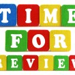 Stock Photo: Time for review concept