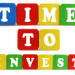 Time to invest concept — Stock fotografie