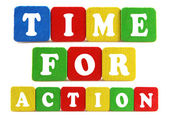 Time for action concept — Stock fotografie