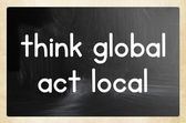 Think global act local concept — Foto de Stock