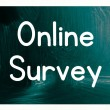 Online survey — Stock Photo