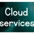 Stock Photo: Cloud services concept