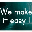 We make it easy concept — Stok fotoğraf #38294029
