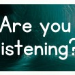 Stock Photo: Are you listening concept