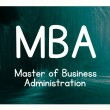 Master of business administration concept — Stock Photo