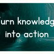 Stock Photo: Turn knowledge into action concept
