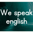 We speak english concept — Stock Photo