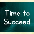 Time to succeed — Stock Photo