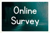 Online survey — Stock Photo