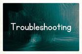 Troubleshooting concept — Zdjęcie stockowe
