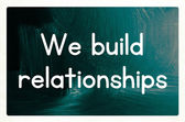 We build relationships — Stock Photo