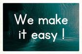 We make it easy concept — Zdjęcie stockowe