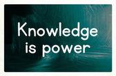Knowledge is power concept — Zdjęcie stockowe