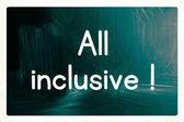 All-inclusive concept — Stockfoto